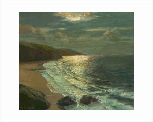 Moonlight on the coast by Julius Olsson