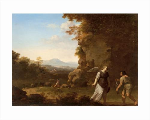 Tobias with the Angel by Cornelis Van Poelenburgh