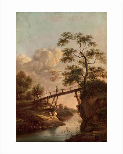 A Footbridge across a River, c.1800 by Dutch School