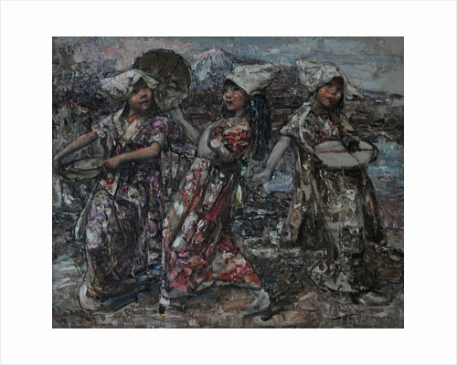 Three Japanese Peasants, c.1921-5 by Edward Atkinson Hornel