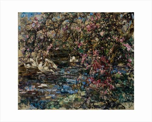 Apple Blossom, Buckland Burn, 1897-1933 by Edward Atkinson Hornel