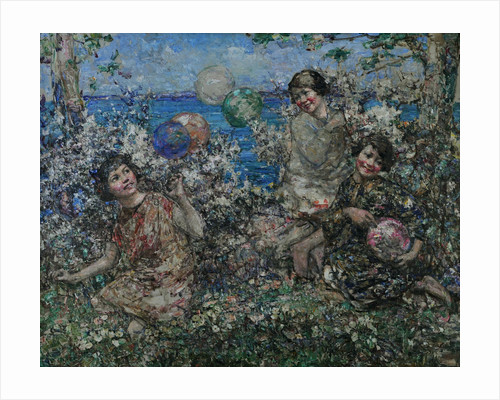 Balloons & Blossom, Brighouse Bay, 1897-1933 by Edward Atkinson Hornel