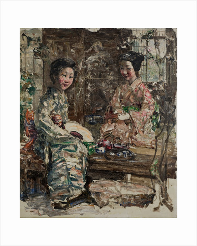 Tea Ceremony with Japanese Girls, c.1921-25 by Edward Atkinson Hornel