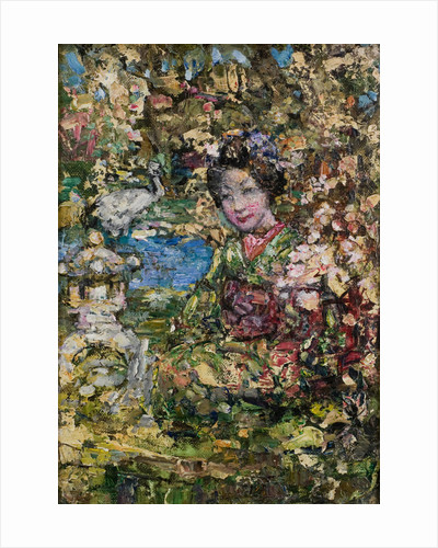 Geisha Girl in Oriental Garden by Edward Atkinson Hornel
