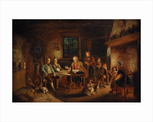 The Cotter's Saturday Night, c.1850s by William Kidd
