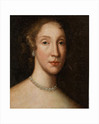 Head of a Lady with a Pearl Necklace by British School
