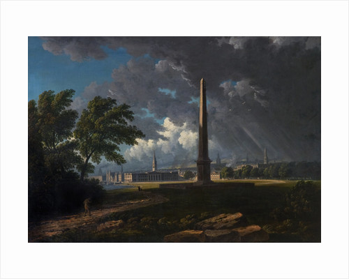 View of Glasgow Green and a passing storm by John Knox