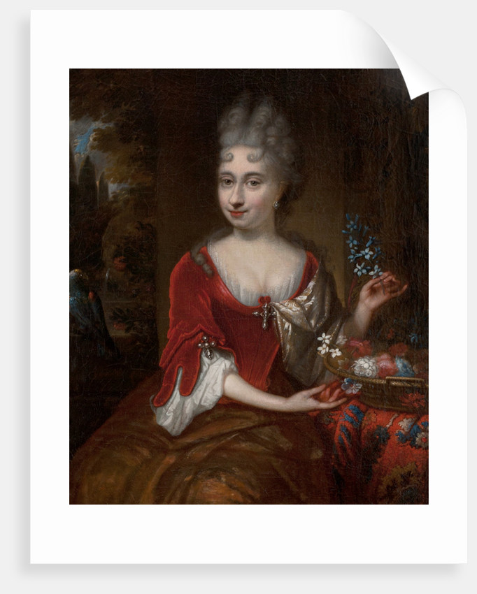 Portrait of a lady by Michiel Van Musscher