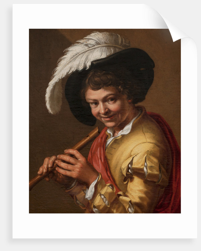 Boy with a flute by Abraham Bloemaert