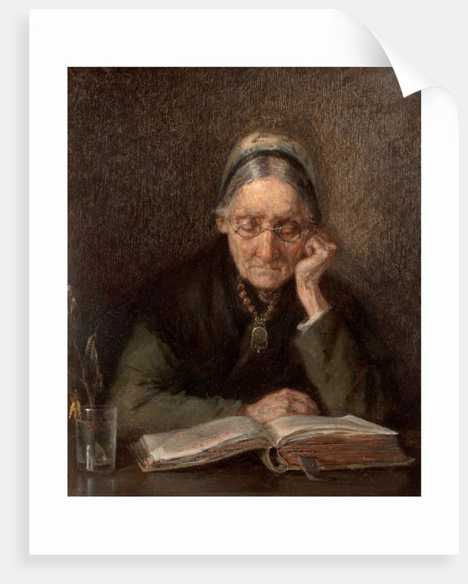 An Old Woman Reading by M. Knoop