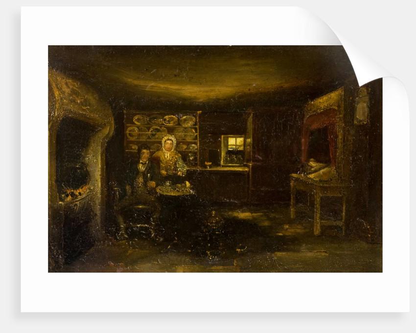 Burns Cottage, Interior by David Octavius Hill