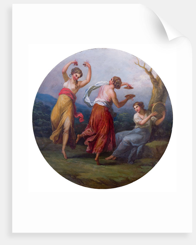 Three Dancing Figures with Cymbals and Drums by unknown