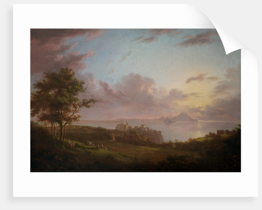 An extensive view of Culzean, Castle by Alexander Nasmyth