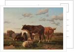 Cattle and Sheep in a Landscape 1850 by F. Jurnet