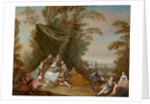 Fete Champetre: Music Party under an Awning by Jean-Antoine Watteau