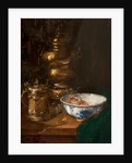 A bowl of fruit & silver 50.5x48 by Antoine Vollon
