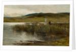 Loch Spynie with a figure wild fowling by Sir George Reid