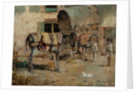 A Street Scene in Malaga with Child and Donkeys, 1891 by Philip Pavy