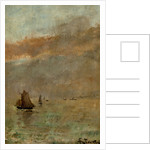 Fishing Boats at dusk by Alfred Stevens