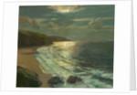 Moonlight on the coast by Julius Olsson