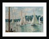 Racing Yachts on the Seine by Jacques-Emile Blanche