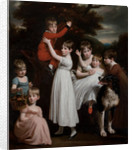 William Brodie, later 22nd Laird, with his brothers, sisters and a dog by John Opie