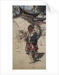 Burmese Maidens outside a Temple by Edward Atkinson Hornel