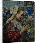 Young Girl with Primroses, 1906 by Edward Atkinson Hornel