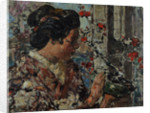 Japanese Woman by a Flowering Tree, c.1921-25 by Edward Atkinson Hornel