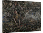 Girl with Nesting Swans by Edward Atkinson Hornel