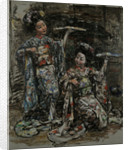 Two Japanese Girls, c.1921-25 by Edward Atkinson Hornel