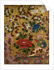 Japanese painted panel with birds amongst flora, C.19th century by unknown