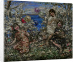 Balloons at Brighouse Bay, 1929 by Edward Atkinson Hornel