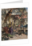 Burmese Girls and Market Stalls, c.1922-27 by Edward Atkinson Hornel