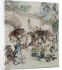 Burmese Figures by a Gateway, c.1922-27 by Edward Atkinson Hornel