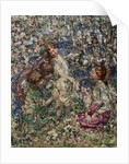 The Bluebell Wood, Gathering Primroses, 1897-1933 by Edward Atkinson Hornel