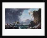 A Wreck on a Rocky Coast by Charles François Grenier de Lacroix