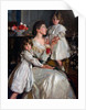 Alice Marjorie Cunningham with her  daughters Marjorie and Millicent, 1902 by Harrington Mann