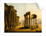 Classical Ruins with a Rotunda by Scottish School