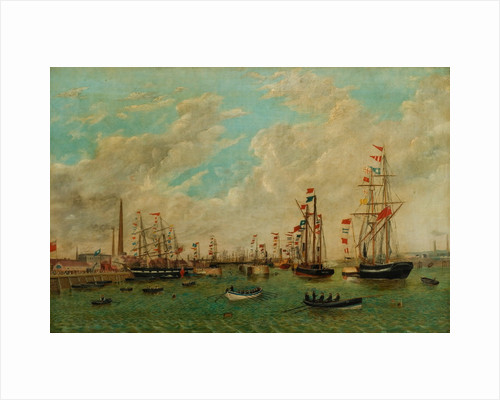 Opening of Tyne Dock, March 3rd 1859 by John Scott