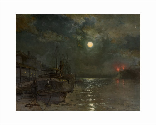 Moonlight on the Tyne by George A. Waterston