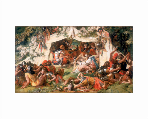 Alfred the Saxon King (Disguised as a Minstrel) in the Tent of Guthrum the Dane by Daniel Maclise
