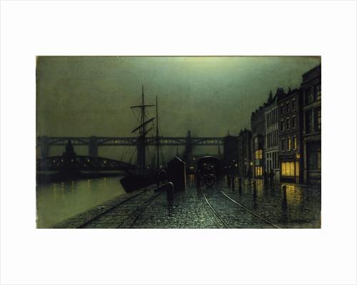 The Quayside, Newcastle upon Tyne by Arthur Edmund Grimshaw