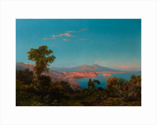 View of the Bay of Naples by Consalve Carelli