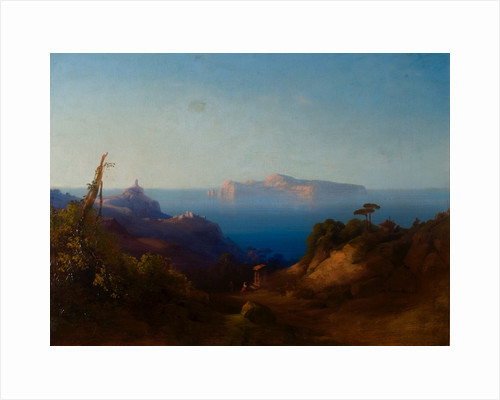 View of Capri by Consalve Carelli