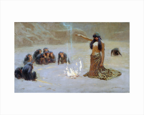 Study for 'The Unknown' by John Charles Dollman