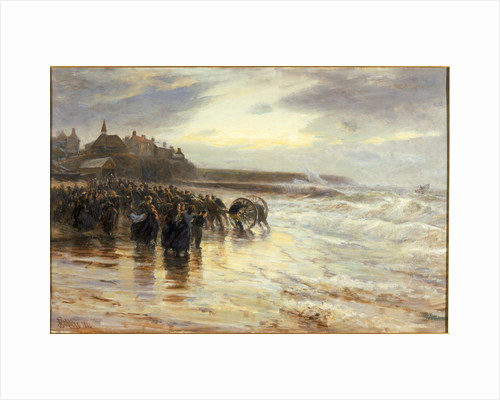 The Lifeboat Off by Robert Jobling