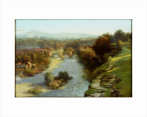 An October Flood, Ludlow by Thomas Bowman Garvie