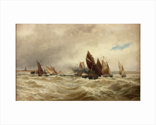Towing Boats out of Calais by Thomas Bush Hardy