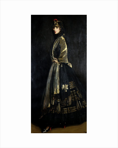 Hazel in Black and Gold by Sir John Lavery
